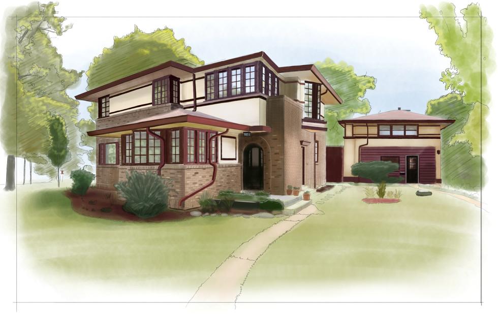 Van Bergen house/Highland Park/IL