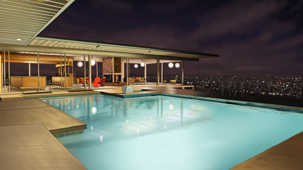 Stahl house/L.A./Night