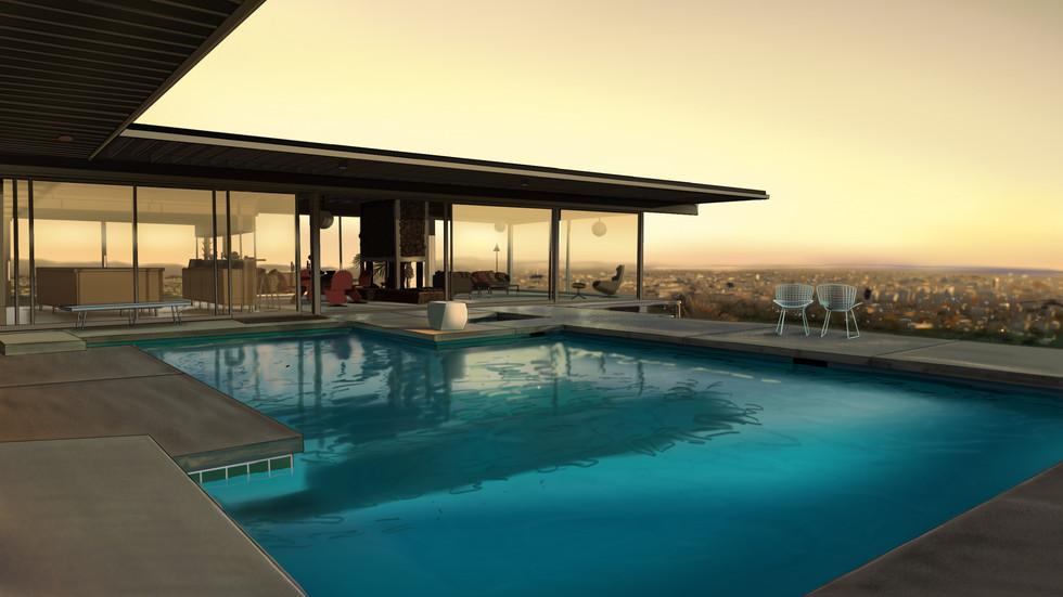 Stahl house/L.A./Dusk