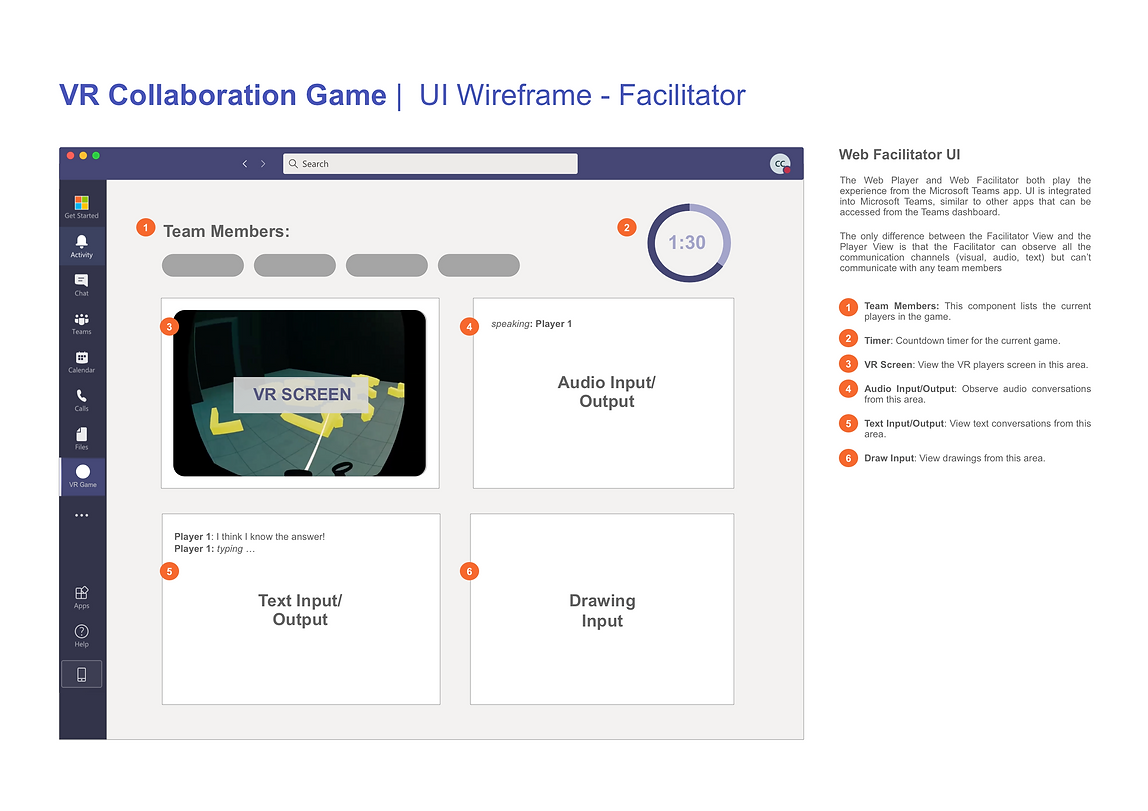 VR Collaboration Game - Facilitator UI A
