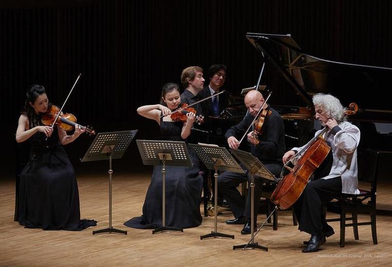 With Akiko Suwanai, Andrei Gridchuk, Mischa Maisky and Nikolai Lugansky