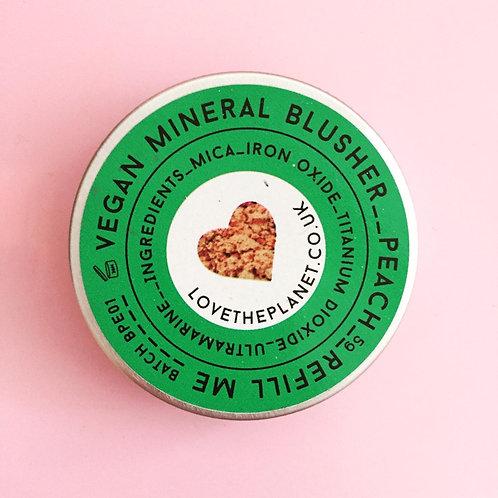 Vegan Natural Peach Blusher Refill Tin 5g