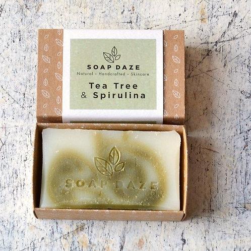Tea Tree and Spirulina Handmade Natural Vegan Soap