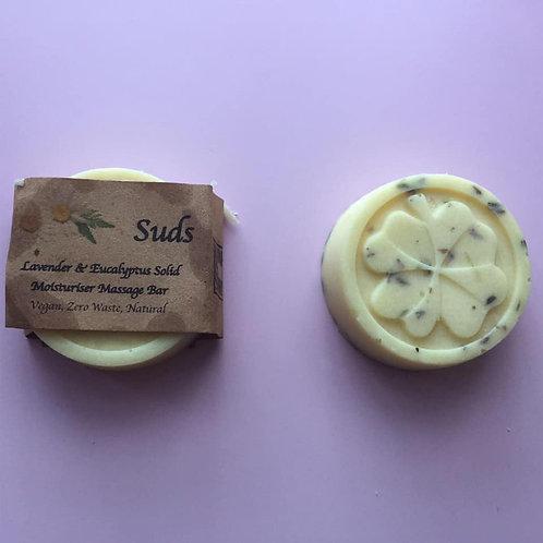 Solid Massage Bar/ Hand Cream Lavender & Eucalyptus