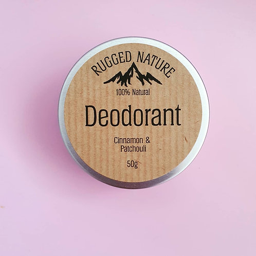 Deodorant - Cinnamon & Patchouli 50g