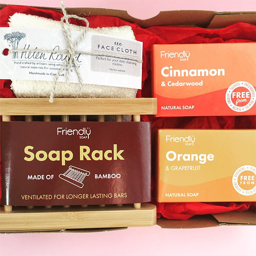 Soap Rack Soap Bundle with Bamboo Cloth