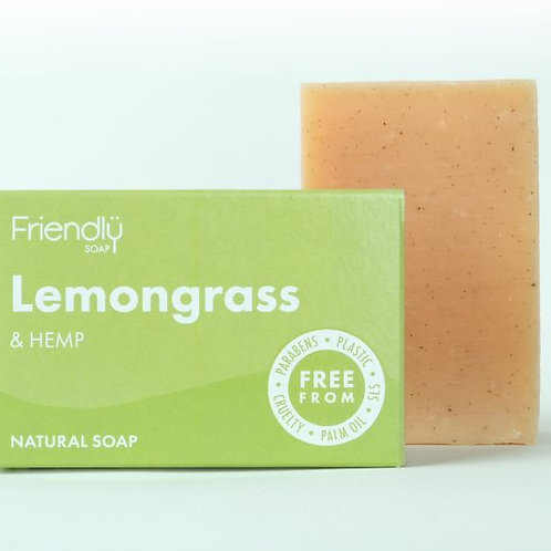 Lemongrass & Hemp Natural Soap Bar