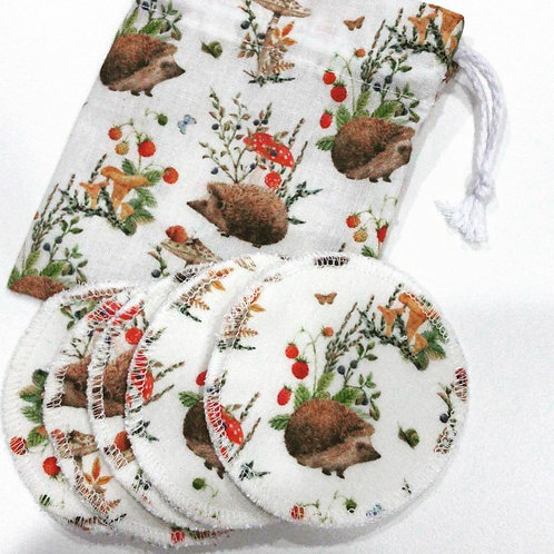 Hedgehog Eco Face Pads with Pouch