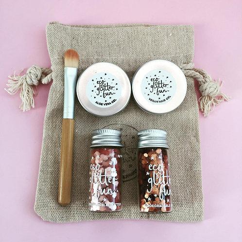 Pure Glitter Gift Box - Bronze & Blush Pink Uber Chunky