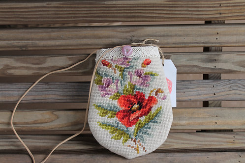 Needlepoint Pouch Bag