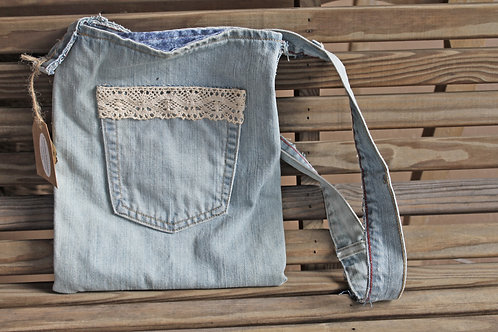 Upcycled Denim Purse - #4
