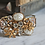 Thumbnail: Rhinestones and Pearls Recycled Jewelry Statement Cuff Bracelet