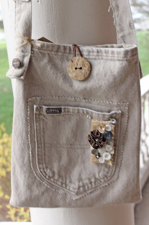 Upcycled Denim Purse - #10