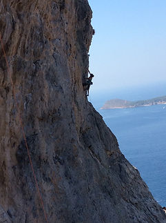 Kalymnos, Greece climbing instruction