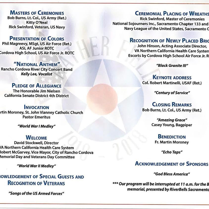 Rancho Cordova Veteran's Day Ceremony