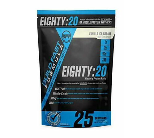EIGHTY 20 - 6-Hour Muscle Protein Synthesis - Vanilla Ice Cream