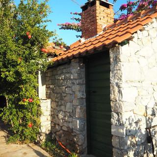 Vakre gamle hus i Kroatia