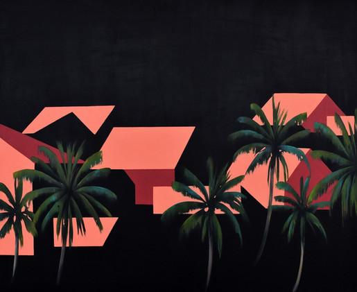 Desde las palmeras III 100x 80
