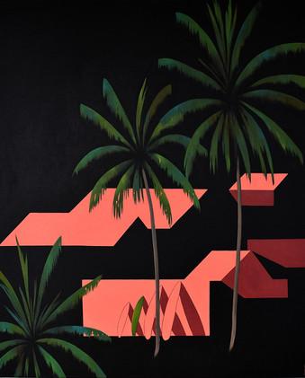 Desde las palmeras VI 81 x 104 cm