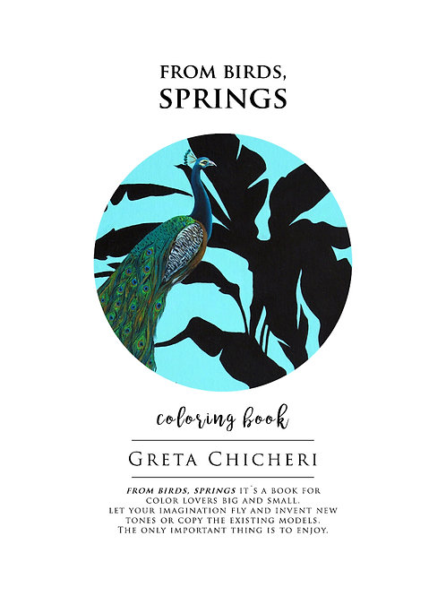 Coloring Book. From birds, springs.