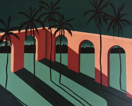 Puente nocturno 65 x 54 cm
