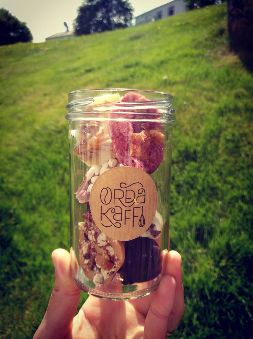 Selection chocolate gift jar