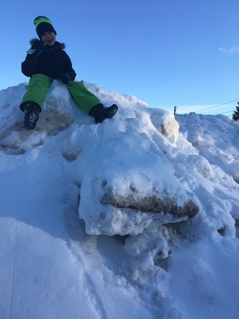 Fun outdoors in the snow