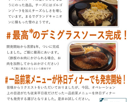 新商品発売!!和風デミ、グランドキャニオンチーズ