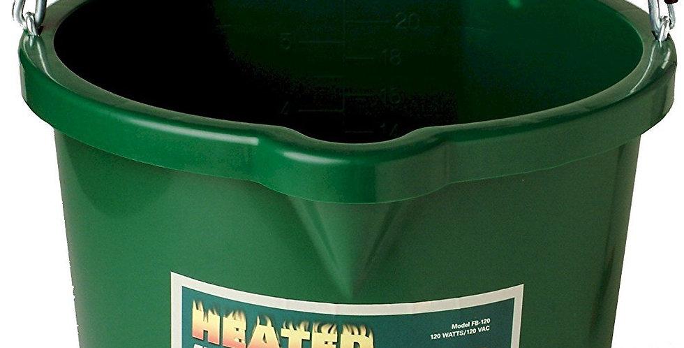 Heated 5 Gallon Flat Back 20 Qt Horse Water Bucket.