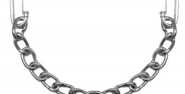 Curb chain w/ hooks
