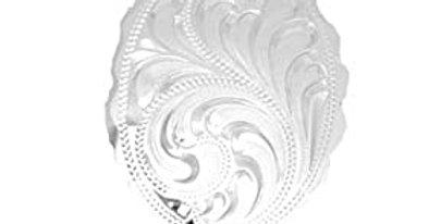 German Silver Engraved Bolo Tie