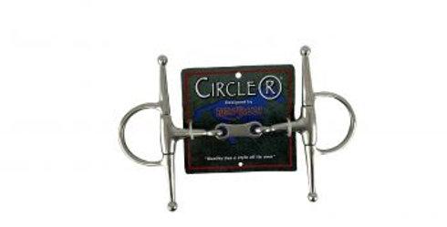 Circle R Reinsman Full Cheek Dog Bone Snaffle Bit
