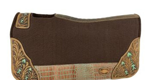 Brown Felt Pad With Painted Arrow Design