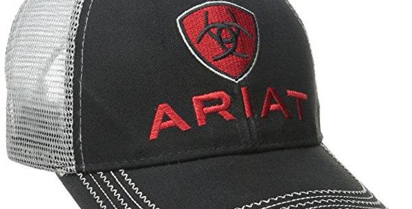 Ariat Men's Black Red and Grey Mesh Hat