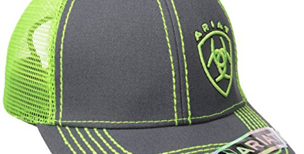 Ariat Men's Clean Neon Corner Logo Black/Lime One Size Fits al