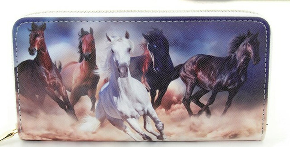 Galloping Horses Wallet by AWST