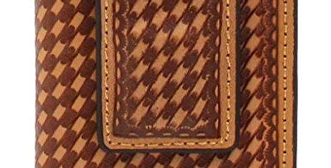 3D Belt DW653 Natural Basket Weave Front Pocket & Money Clip Wallet