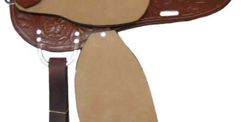 Double T Chestnut Barrel Saddle     8491