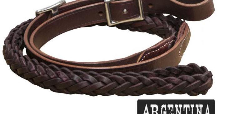 7'Argentina Cow Leather Braided Reins