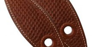 Basket Tooled Leather Slobber Straps