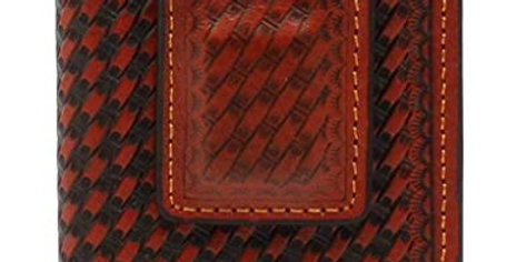 3D Belt DW651 Tan Basket Weave Front Pocket & Money Clip Wallet