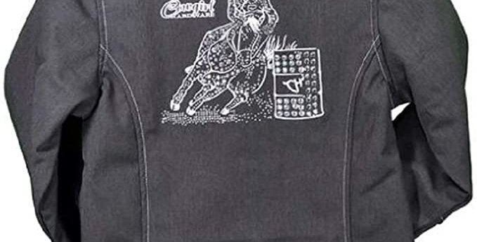 Girl's Cowgirl Hardware Barrel Racer Heather Dark Chocolate Soft Shell Jacket