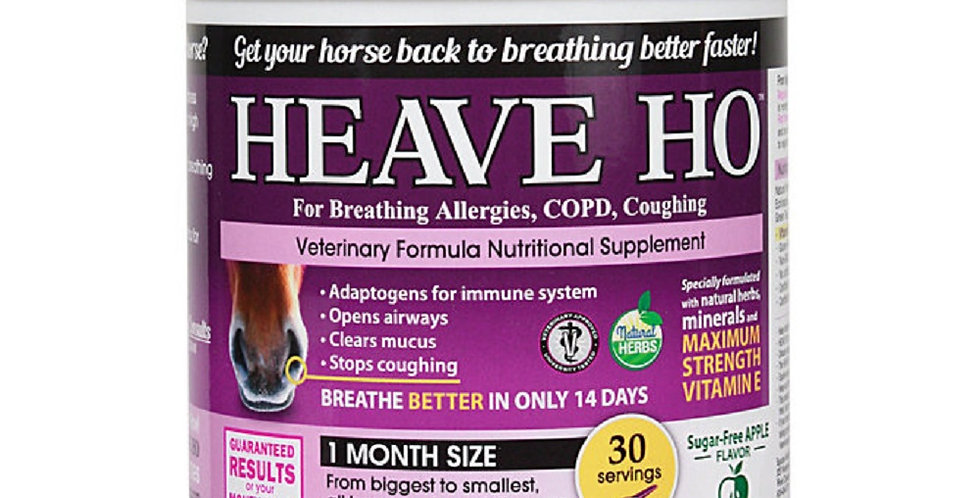 HEAVE HO Horse Supplement Allergies COPD Coughing Sugar Free Apple 30 servings