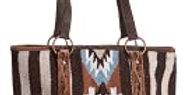 Blanket Tooled Leather Handbag Tote