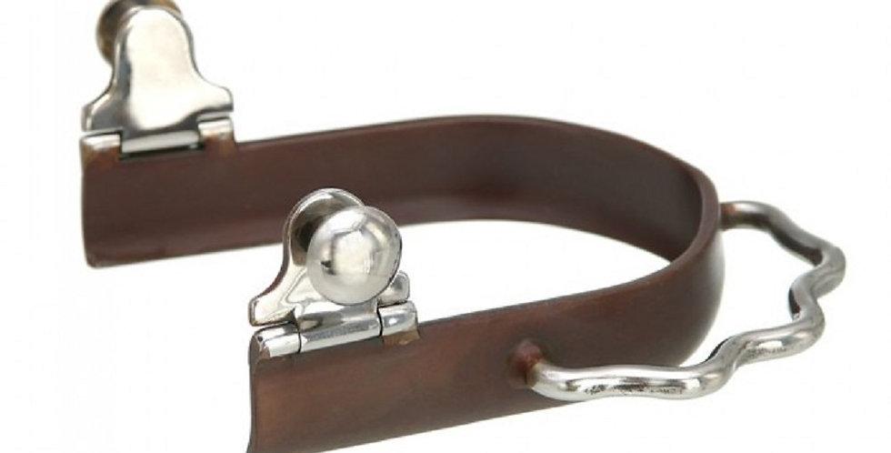 Kelly Silver Star Antique Brown Sidewinder Bumper Spurs Size Choice