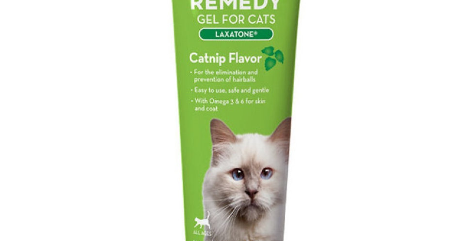 Hairball Remedy Gel for Cats (Laxatone) Catnip Flavored 4.25 oz