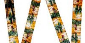 Cactus Print Nylon Tie Strap