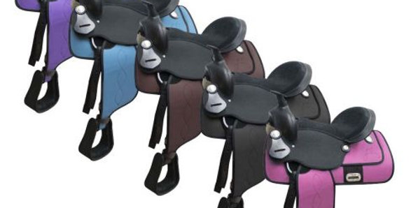 "12"" Cordura Pony saddle Pink"