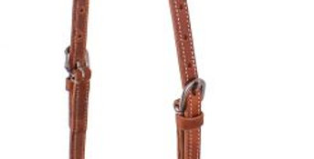 Harness Leather One Ear Headstall With Quick Change Bit Loops