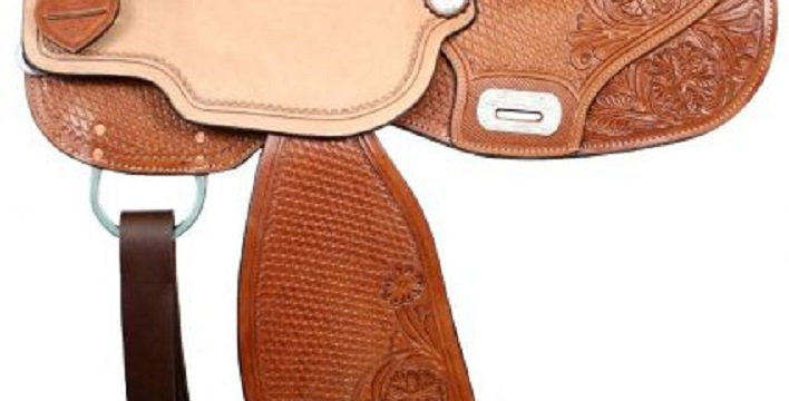 Double T Barrel Saddle with Flex Tree & Floral Tooling Choice of Size!